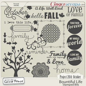 Project 2014 October: Bountiful Life - Stamped Bits