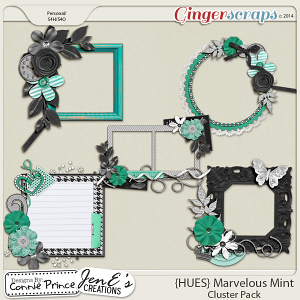 {HUES} Marvelous Mint - Cluster Pack