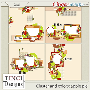 Cluster and colors: apple pie