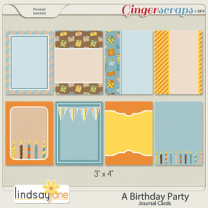 A Birthday Party Journal Cards by Lindsay Jane