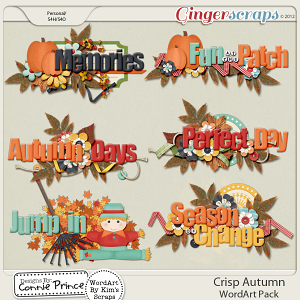Crisp Autumn - WordArt