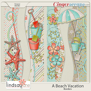 A Beach Vacation Borders by Lindsay Jane