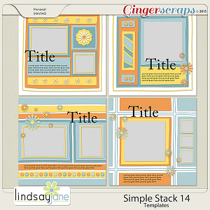 Simple Stack 14 Templates by Lindsay Jane