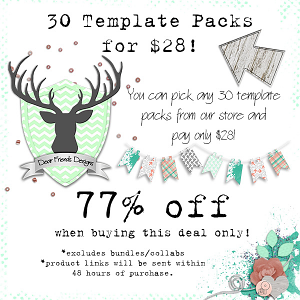 30 Template Packs for $28