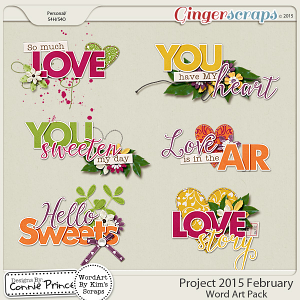 Project 2015 February - WordArt Pack
