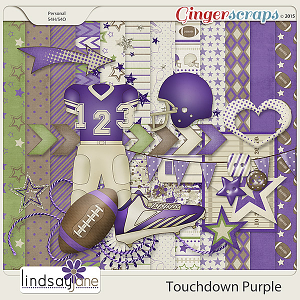 Touchdown Purple by Lindsay Jane