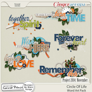 Project 2014 November: Circle Of Life - WordArt Pack