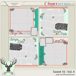 Sweet 16 Vol 4 Templates by Dear Friends Designs