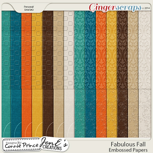 Fabulous Fall - Embossed Papers