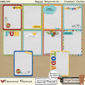 Happy Hopscotch - Journal Cards