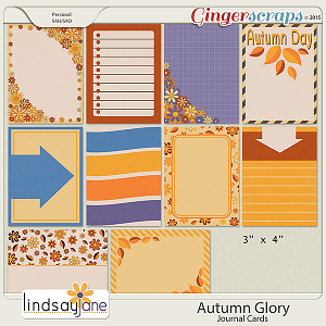 Autumn Glory Journal Cards by Lindsay Jane