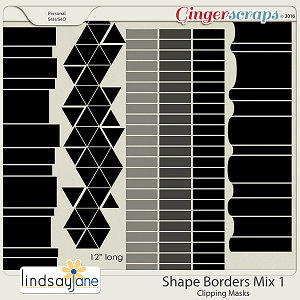 Shape Borders Mix 1 by Lindsay Jane