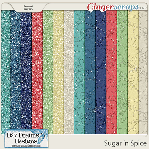 Sugar 'n Spice {Glitter Papers} by Day Dreams 'n Designs