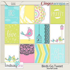 Birds Go Tweet Journal Cards by Lindsay Jane