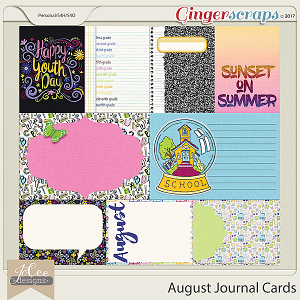 August Journal Card Pack by JoCee Designs