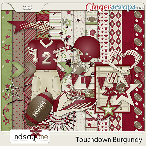 Touchdown Burgundy by Lindsay Jane