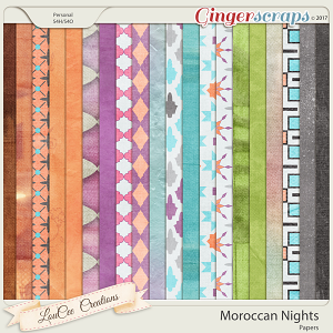 Moroccan Nights Papers by LouCee Creations