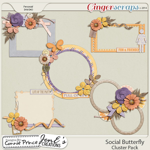 Social Butterfly - Cluster Pack