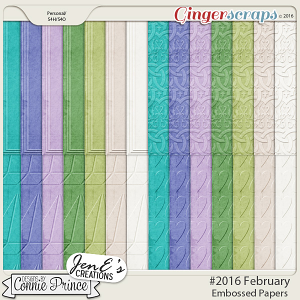 #2016 February - Embossed Papers