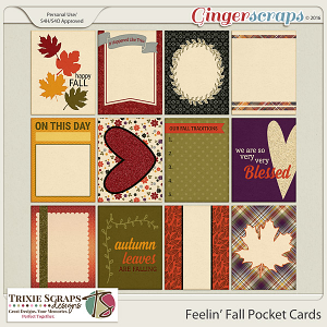 Feelin' Fall Pocket Cards by Trixie Scraps Designs