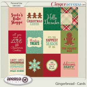 Gingerbread - Cards by Aprilisa Designs