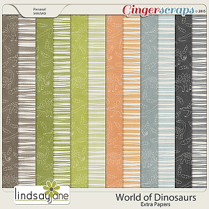 World of Dinosaurs Extra Papers by Lindsay Jane