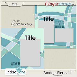 Random Pieces 11 Templates by Lindsay Jane