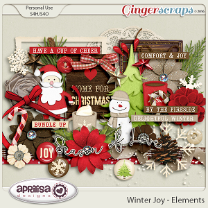 Winter Joy - Elements by Aprilisa Designs.