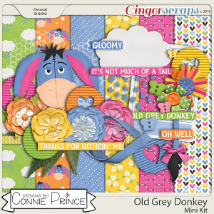 Old Grey Donkey - Mini-Kit by Connie Prince