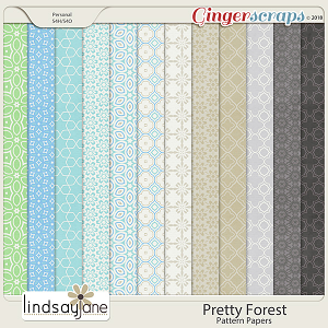 Pretty Forest Pattern Papers by Lindsay Jane