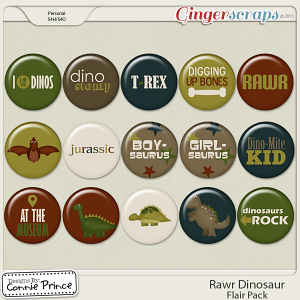 Rawr Dinosaur - Flair Pack
