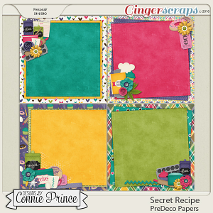 Secret Recipe  - PreDeco Papers