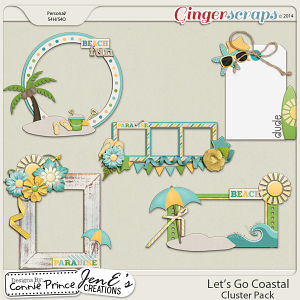 Let's Go Coastal  - Cluster Pack