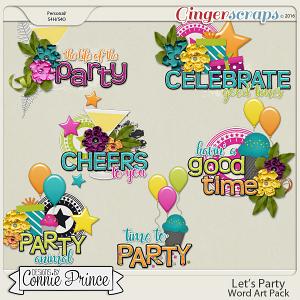 Let's Party - Word Art Pack