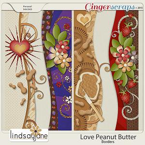Love Peanut Butter Borders by Lindsay Jane