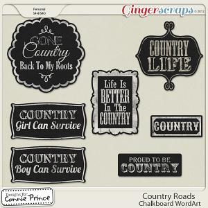 Retiring Soon - Country Roads - Chalkboard Word Art