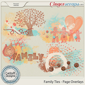 Family Ties Page Overlays by CathyK Designs