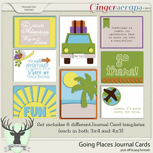 Going Places Journal Cards