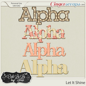 Let It Shine Alphabets