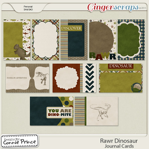 Rawr Dinosaur - Journal Cards