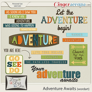 Adventure Awaits {word art} by Little Rad Trio