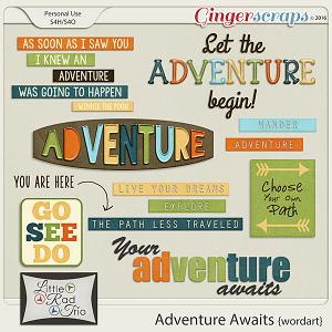 Adventure Awaits {word art} by Little Rad Trio