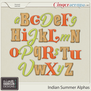 Indian Summer Alpha Sets by Aimee Harrison