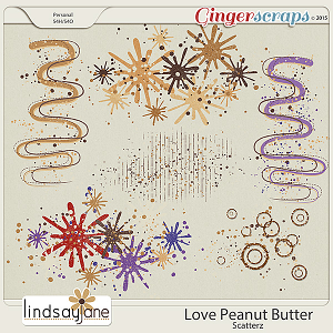 Love Peanut Butter Scatterz by Lindsay Jane