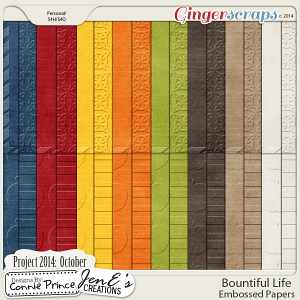 Project 2014 October: Bountiful Life - Embossed Papers