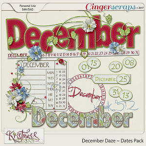 December Daze Dates Pack