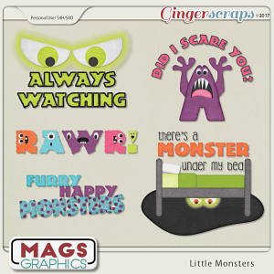 Little Monsters WORD ART by MagsGraphics