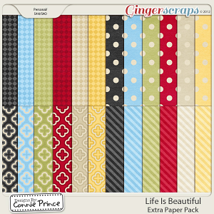Life Is Beautiful - Extra Paper Pack: by Connie Prince