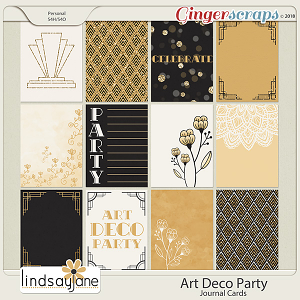 Art Deco Party Journal Cards by Lindsay Jane