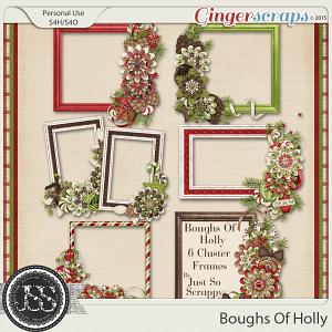 Boughs Of Holly Cluster Frames